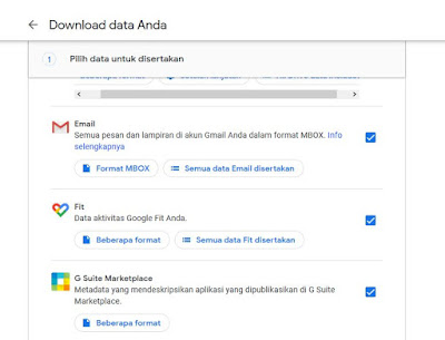 Cara Download Data Google Anda
