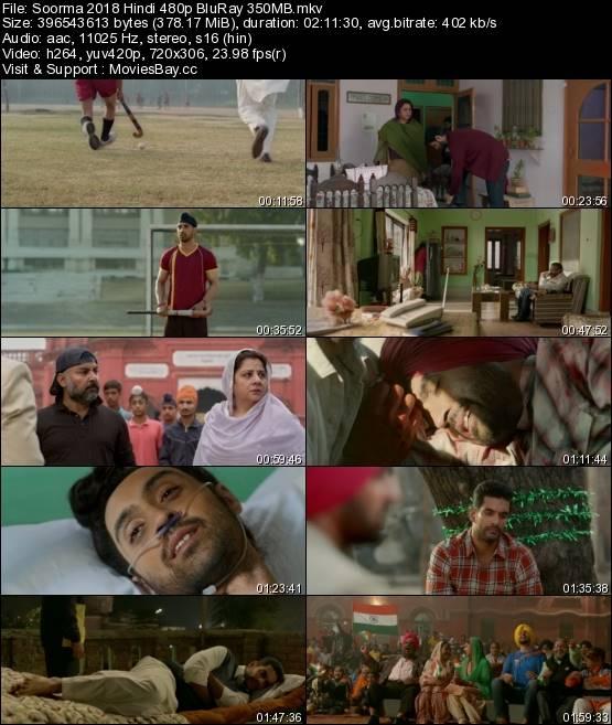 Soorma 2018 Hindi 480p BluRay 350MB