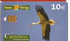 Tarjeta telefónica Cigüeña blanca (Ciconia ciconia)