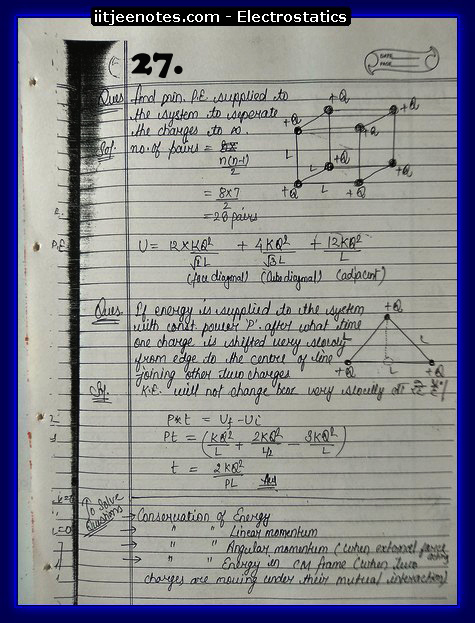Electrostatics Notes cbse2
