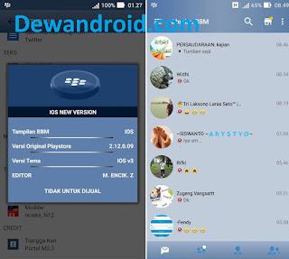 BBM Mod New Iphone Style 2.12.0.9 (iBBM)