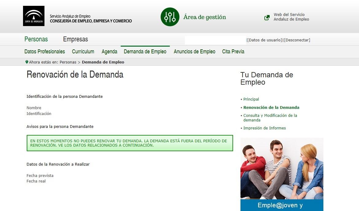 Orienta sue pasos a seguir para renovar la demanda de for Senar la demanda de empleo por internet