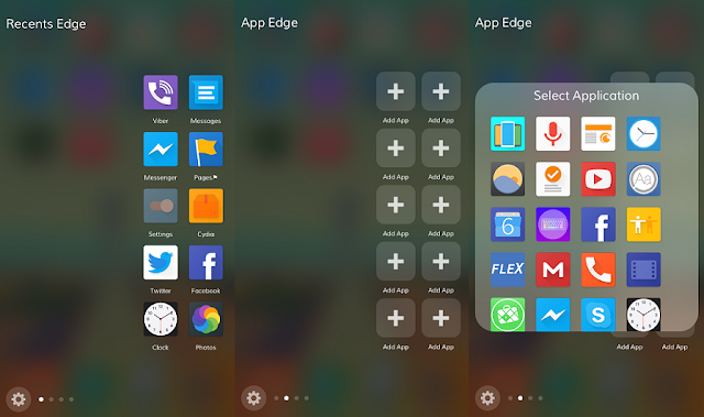 a similar experience to the Samsung S7 side interface feature to iOS 9 devices.