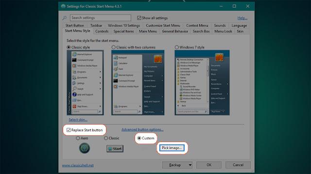 Thay đổi biểu tượng nút Start tùy ý trên Windows 10