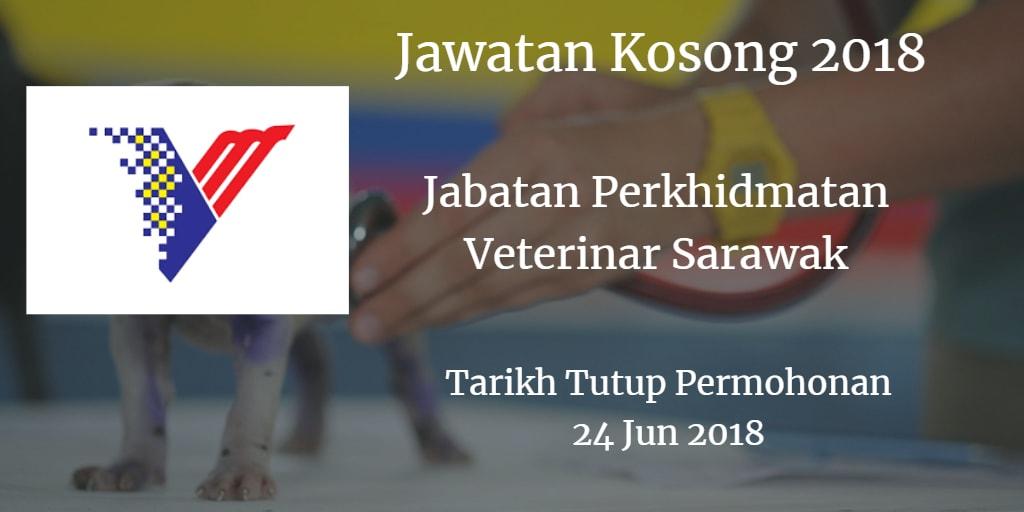 Jawatan Kosong Jabatan Perkhidmatan Veterinar Sarawak 24 Jun 2018