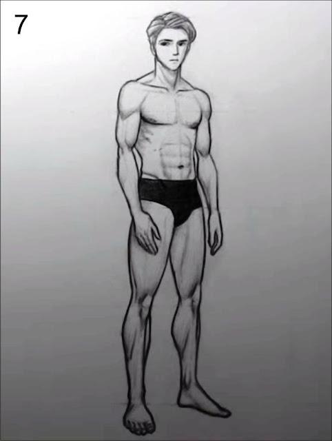 gambar manusia menggunakan pensil