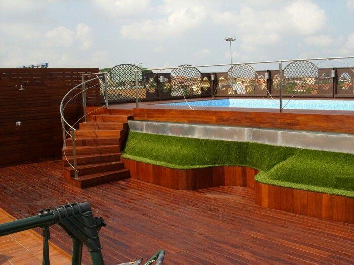 Con decoro piscinas elevadas for Piscina elevada madera