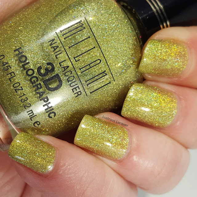 Spring green scattered holographic nail polish