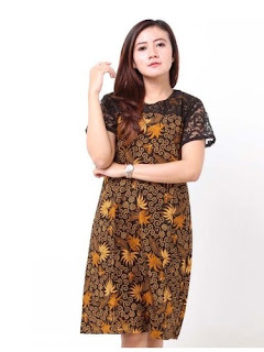 Dress Batik Kombinasi Terbaru