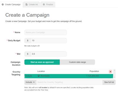 crear campaña Adshop