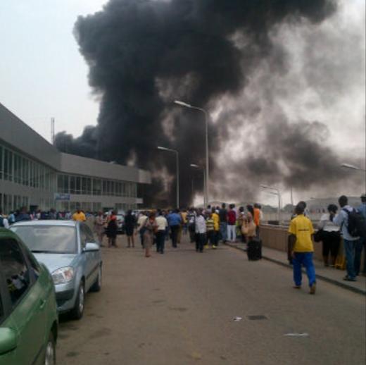 Fire Outbreak Rocks Murtala Muhammed International Airport in Lagos (Video) Screenshot%2B%2528461%2529