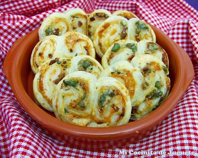 palmeritas saladas de hojaldre
