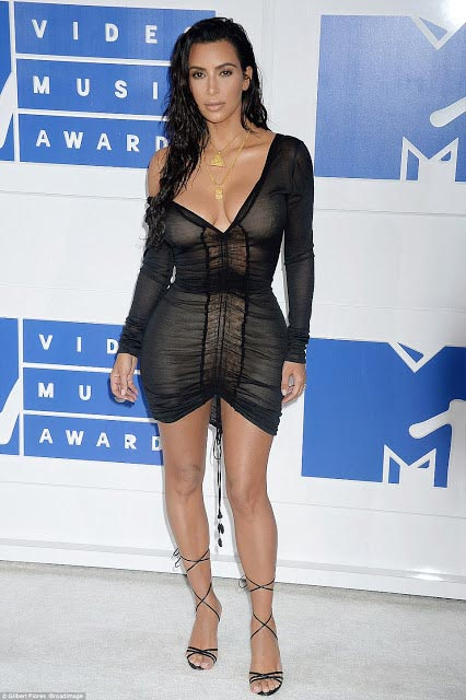 See what Kim Kardashian wore at 2016 MTV #VMAs