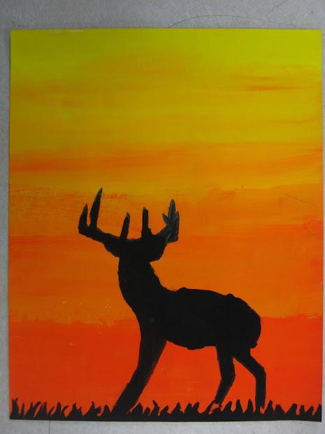 Easy Silhouette Paintings