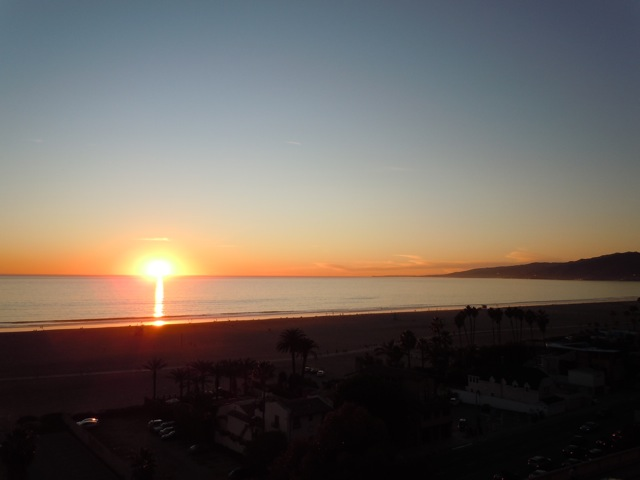Santa Monica coast sunset