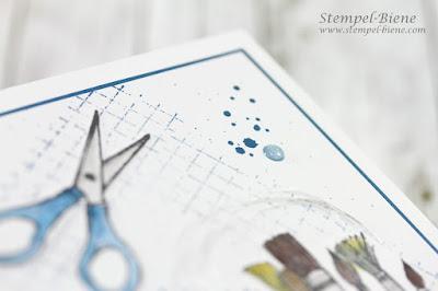 Stampinup Kreiert mit Liebe; Match the Sketch; Stempel-Biene, Work of Art; Stampinup Katalog; Stempelparty; Karte für Maler