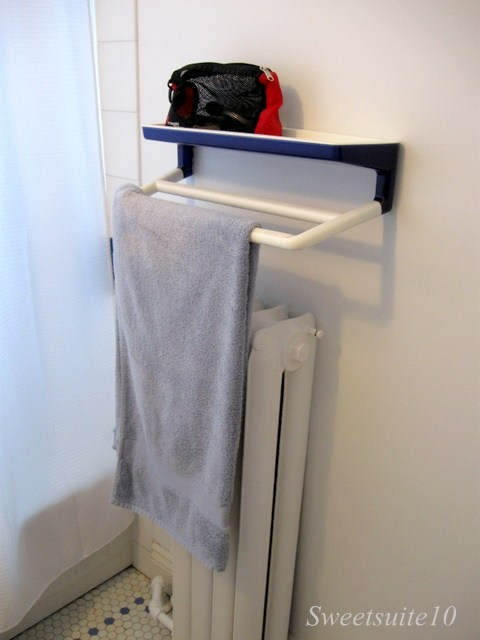 Towel rack before