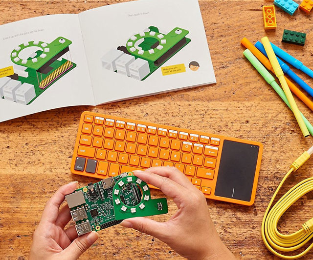 The Kano computer building and coding kit makes the perfect gift for any technologically inclined kid. This interactive kit teaches them how to build their very own Raspberry Pi 3 powered computer as well as how to code in languages like Python and Javascript.