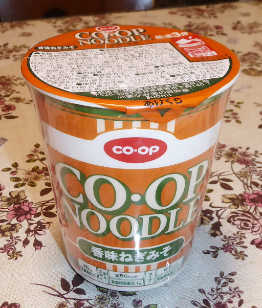 【COOP(コープ・日本生活協同組合連合会)】COOP NOODLE コープヌードル 香味ねぎみそ
