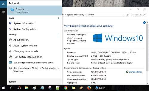 Cara Melihat Spesifikasi Laptop Windows 10