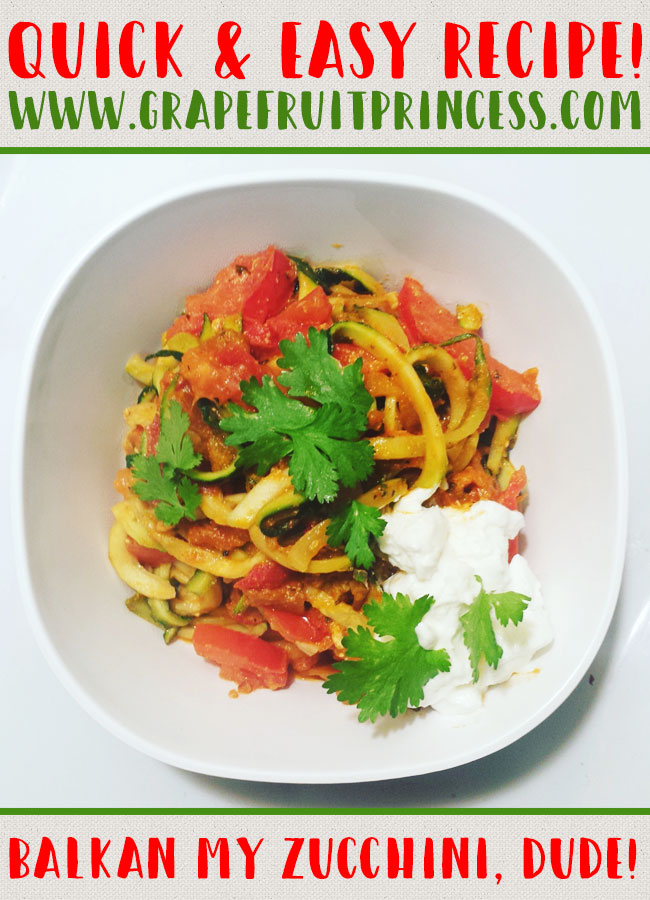 Easy Zucchini Recipe, Ajvar, vegetarian, low carb, zucchini noodles