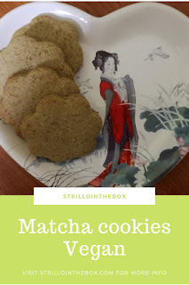 matcha cookies vegan biscotti