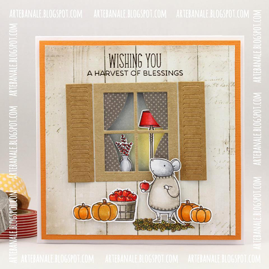 Birdie Brown Harvest Mouse and Lisa Johnson Designs Make Yourself at Home stamp sets Die-namics and Classic Window Die-namics - Agnieszka Danek-Wiśniak #mftstamps