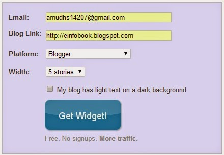 E info Book - Linkwithin You might also like widget for blogger