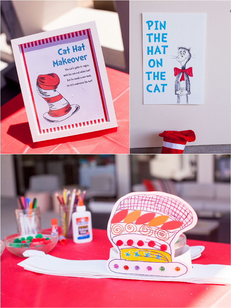 Cat in The Hat Inspired Birthday Party DIY Games & Activities - via BirdsParty.com