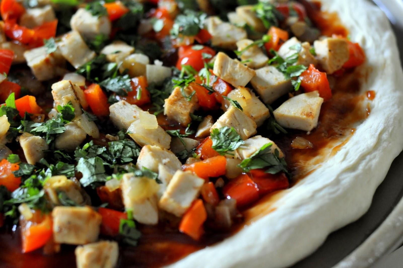 Barbecue Chicken Pizza with fresh cilantro!