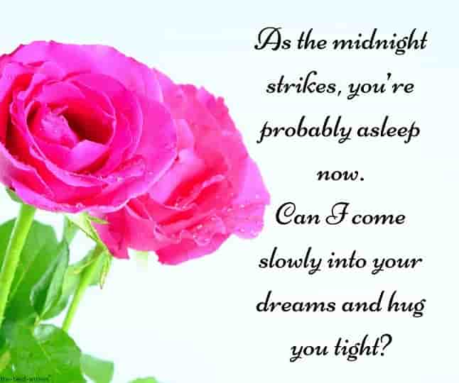 midnight text message to him with roses