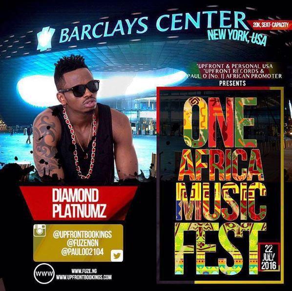Diamond Platnumz kuperfom kwenye tamasha kubwa zaidi la Afrika 'One Africa Music Festival' New York,Marekani