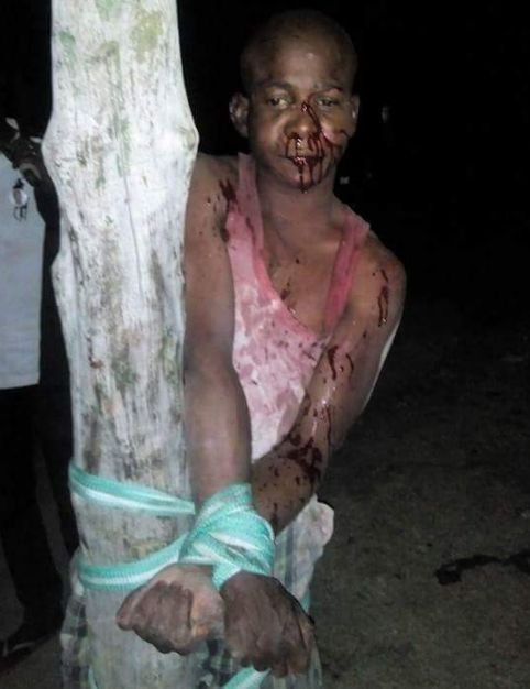 Car Thief Caught and Beaten Mercilessly