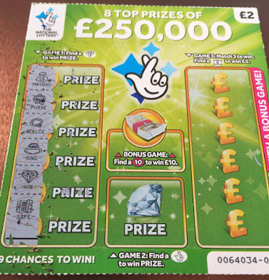 £2 Green £250,000 Scratch Card