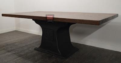 Table industrielle bois et métal sur mesure