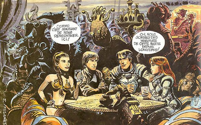 Viñeta reivindicativa de la originalidad de Valerian frente a Star Wars