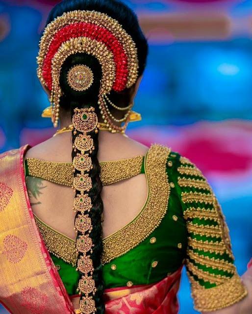 Unique beautiful Blouse Designs For Wedding saree