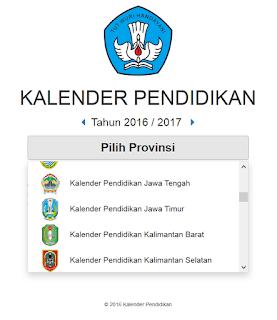DOWNLOAD KALENDER PENDIDIKAN 2016/2017 TERBARU