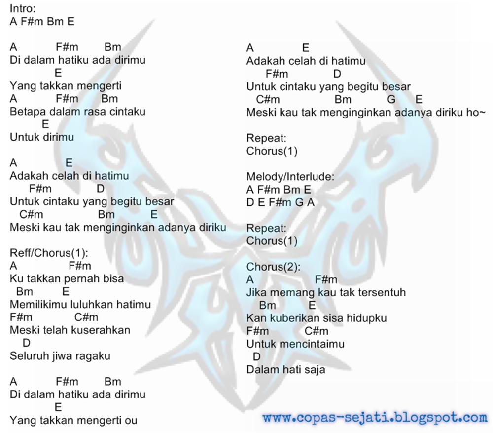 Chord Gitar Ditinggal Rabi Versi Indonesia: Kunci Gitar / Chord & Lirik Lagu D'Masiv