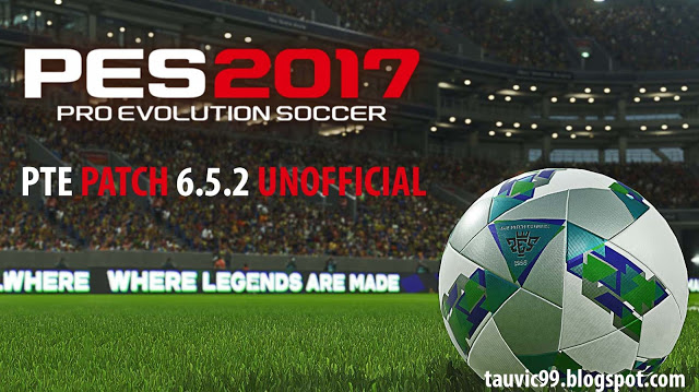 PES 2017 PTE Patch 2017 6.5.2 by tauvic99 [Unofficial]