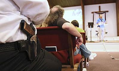 Igrejas poderão permitir portes de armas para proteção durante os cultos, nos EUA