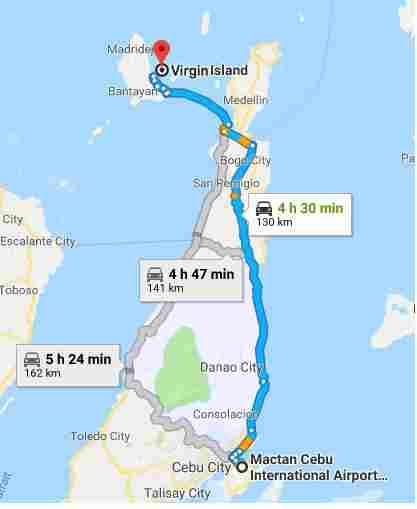 Virgin Island white beach cebu philippines 2018 map mactan cebu international airport map