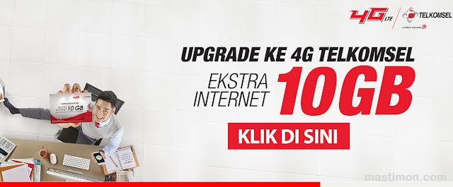 Cara upgrade jaringan 3G ke 4G Telkomsel kartu Simpati dan As