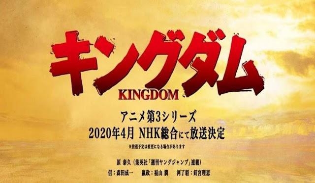 Anime 'Kingdom Season 3', Akan Dirilis Pada Bulan April 2020!