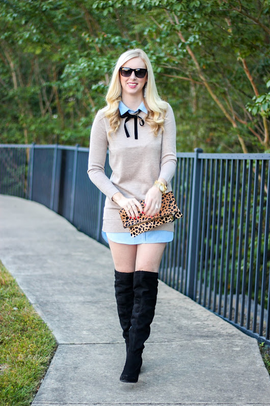 Combo Shirtdress & Leopard Clutch [on SALE!]
