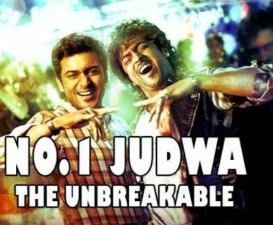 Poster Of No 1 Judwa (2012) In hindi dubbed Dual Audio 300MB Compressed Small Size Pc Movie Free Download Only At worldfree4u.com