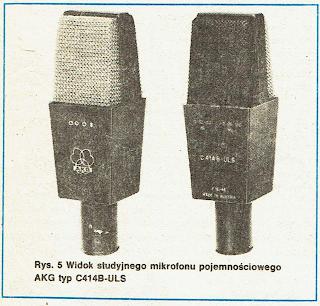 Widok studyjnego mikrofonu pojemnościowego AKG typ C414B-ULS