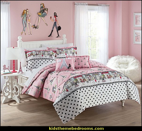 Waverly Kids Ooh La   Paris themed bedroom ideas - Paris style decorating ideas - Paris themed bedding - Paris style Pink Poodles bedroom decorating -  French theme Paris apartment furniture - Paris bedroom decor - decor Paris style French Poodles - room decor french poodle - Paris Postcard bedding - Paris themed teenage bedroom ideas - Paris eiffel tower decor - decorating ideas for paris themed bedrooms - Paris Inspired Nursery - Paris bedrooms