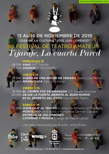 """Se ultiman los detalles de la tercera edición del Festival de Teatro """"Tijarafe, La Cuarta Parted"""""""