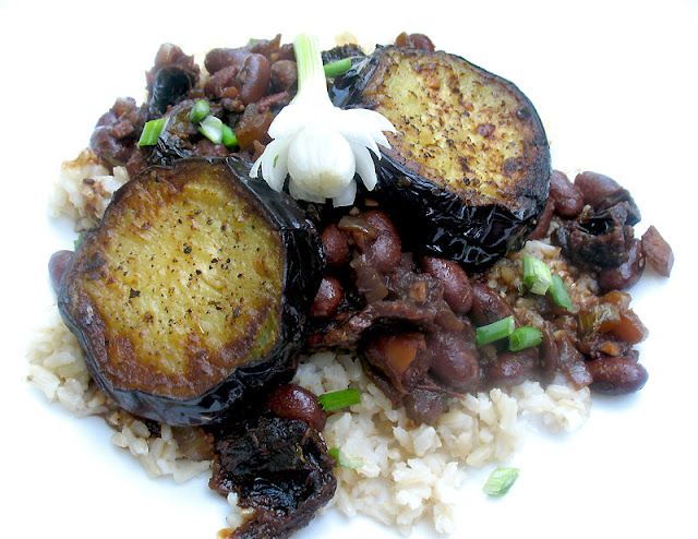southern_style beans with eggplant